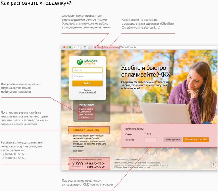 new sberbank ru - О мошенниках пишут на сайте Сбербанка