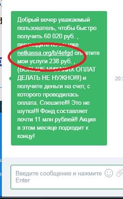 www ipmessanger online просит с нас 238 рублей