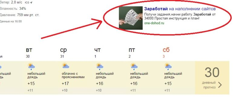 One Dohod Ru - Реклама сайта