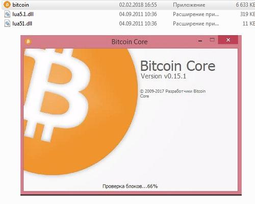 bitcoin core делает вид что работает