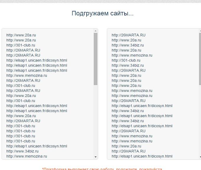 онлайн мониторинг demer pro подгружает для нас одинаковые сайты