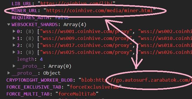 проект autosurf zarabotok запускает майнинг криптовалюты на компьютере посетителя
