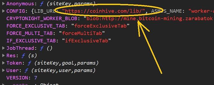 на сайте http mine browser mining zarabatok com майнинг криптовалюты идёт с помощью скрипта coinhive