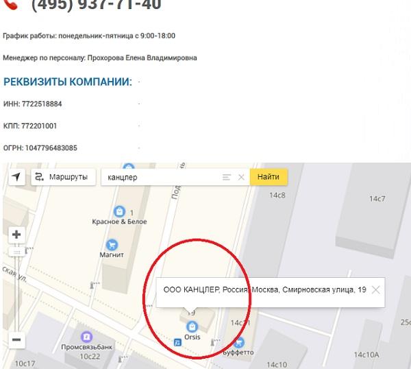 centr opt inbox kantservice - проверяем что находится по указанному адресу в москве