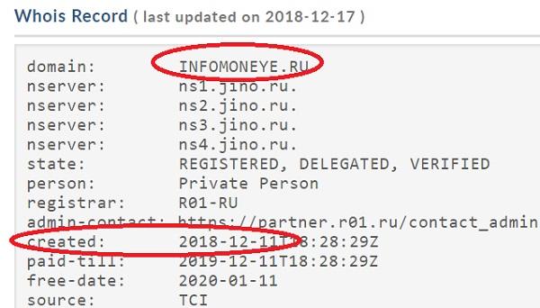 infomoneye ru - сервис проверки на соцсетевую активность существует всего лишь несколько дней