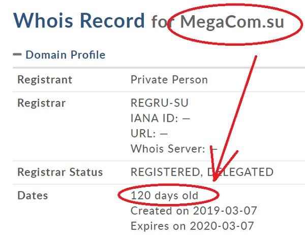 http megacom su существует всего 4 месяца на момент написания обзора и отзывов