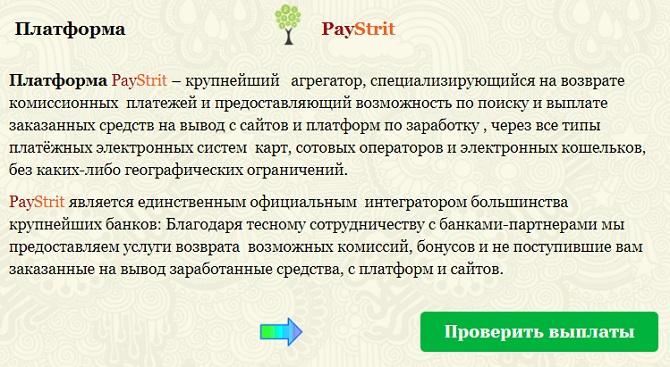 paystrit site что это - честный агрегатор по выплатам начислений или лохотрон? читаем описание чтобы понять это