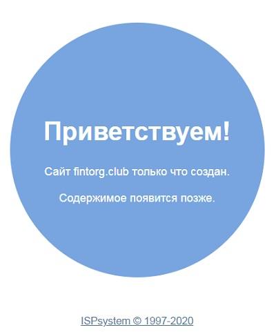 у системы fintorg club даже нет главной страницы
