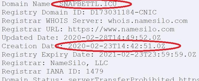 сервис snapbet был зарегистрирован позже чем даты публикации новостей
