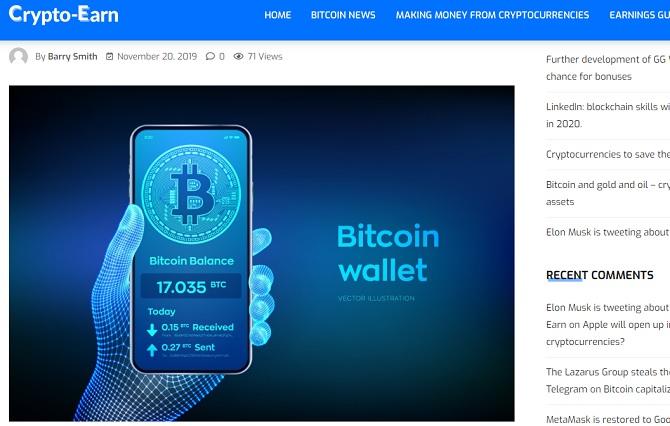 срочный набор онлайн операторов - дизайн для страницы взят с зарубежного блога crypto earn